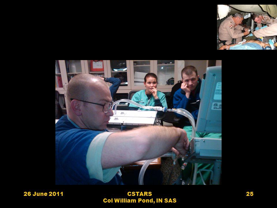 26 June 2011CSTARS Col William Pond, IN SAS 25