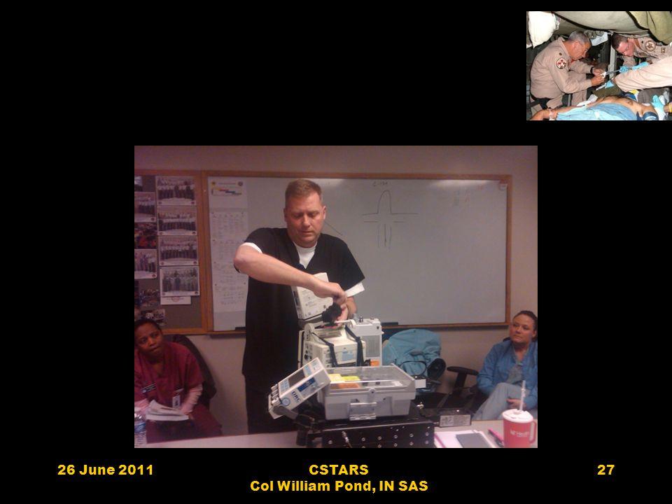 26 June 2011CSTARS Col William Pond, IN SAS 27