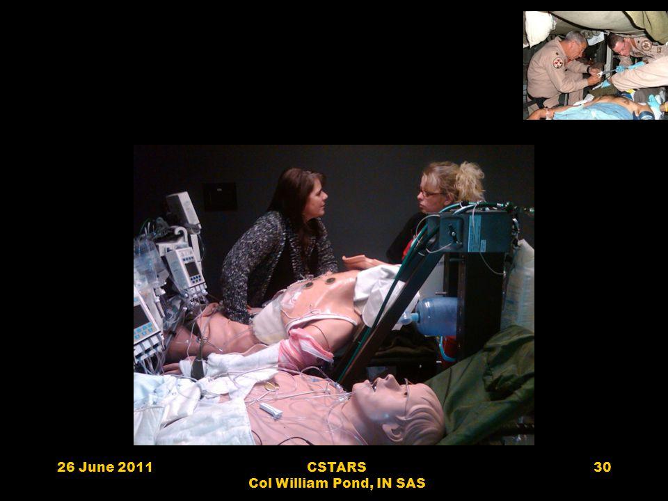 26 June 2011CSTARS Col William Pond, IN SAS 30