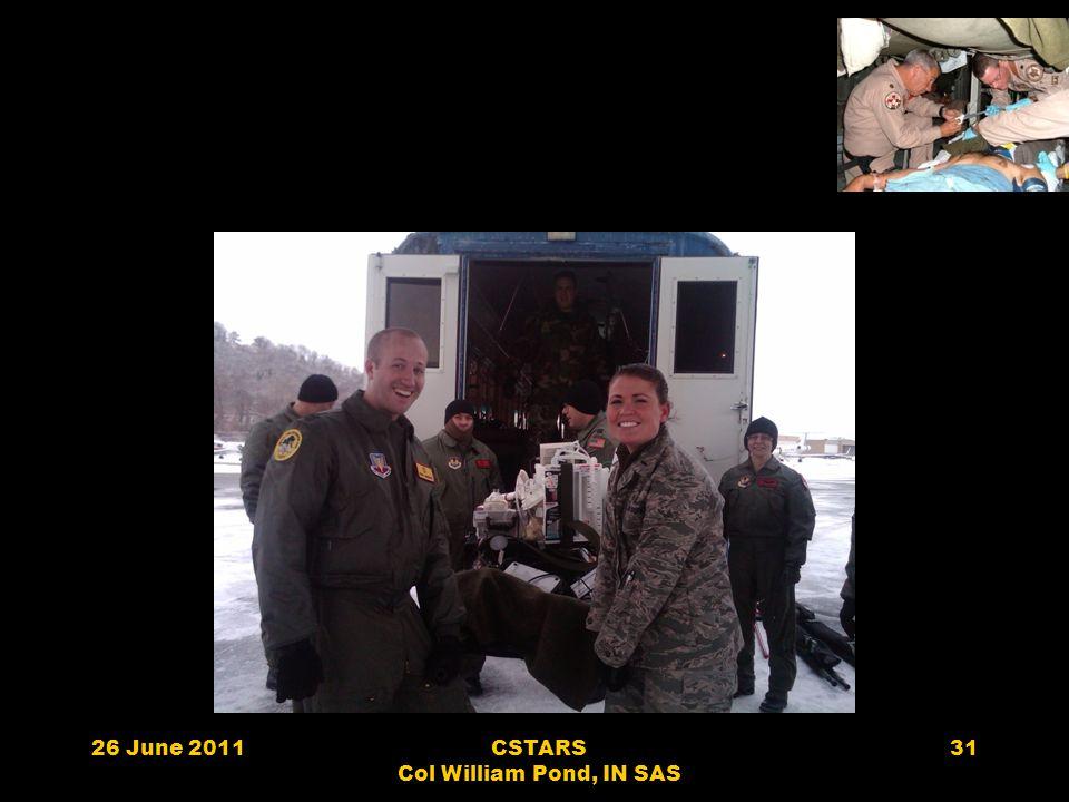 26 June 2011CSTARS Col William Pond, IN SAS 31
