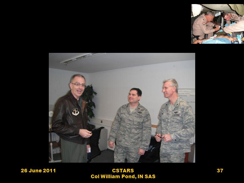 26 June 2011CSTARS Col William Pond, IN SAS 37
