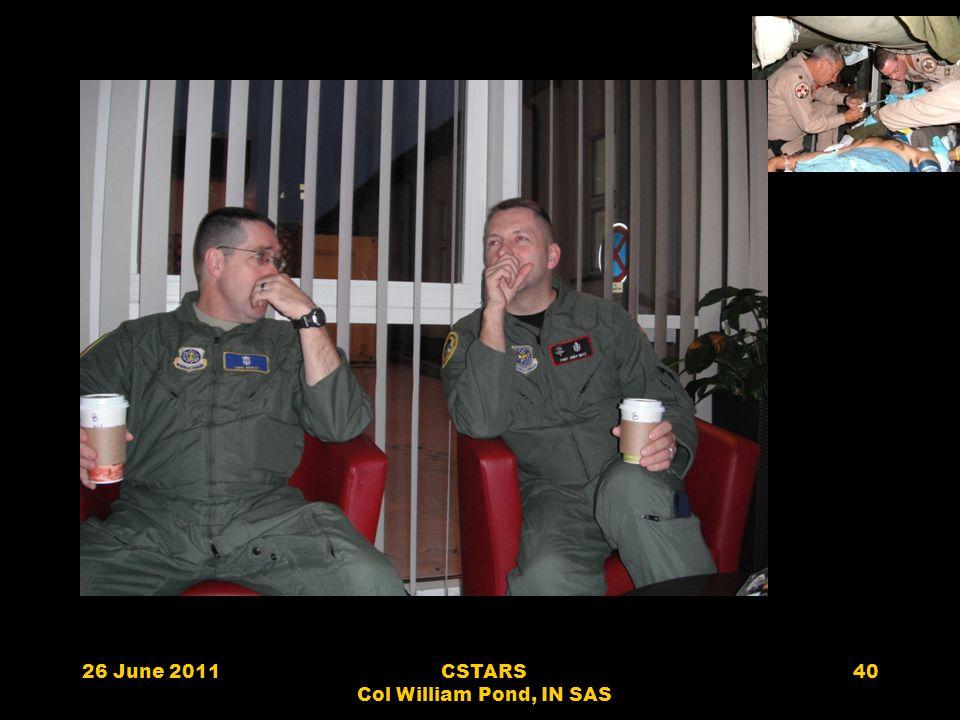 26 June 2011CSTARS Col William Pond, IN SAS 40