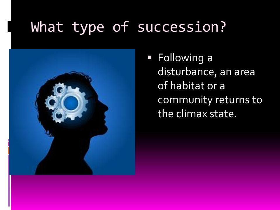 What type of succession.