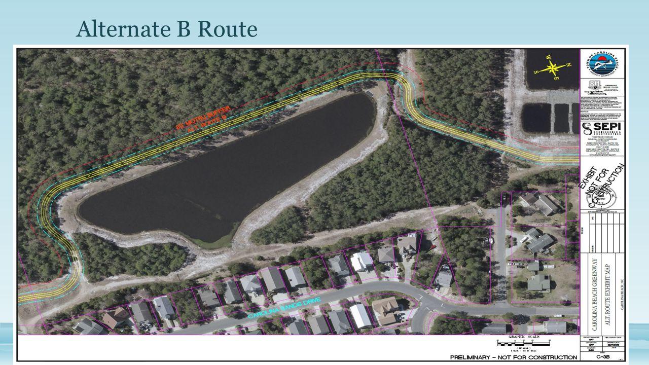 Alternate B Route Insert Map