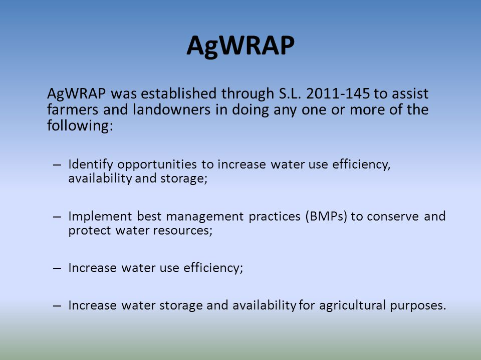 AgWRAP AgWRAP was established through S.L.