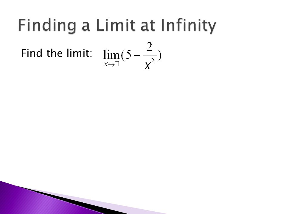 Find the limit: