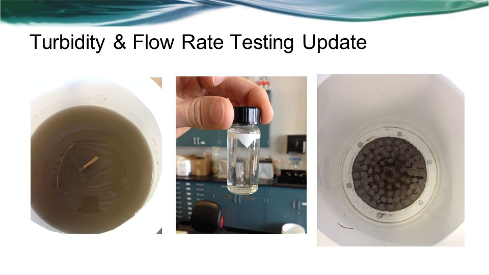 Turbidity & Flow Rate Testing Update