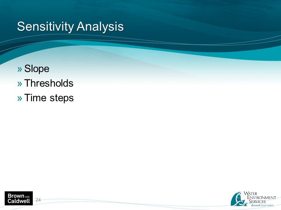 Sensitivity Analysis »Slope »Thresholds »Time steps 24