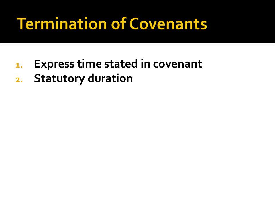 2. Statutory duration