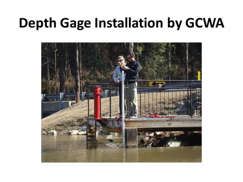 Depth Gage Installation by GCWA