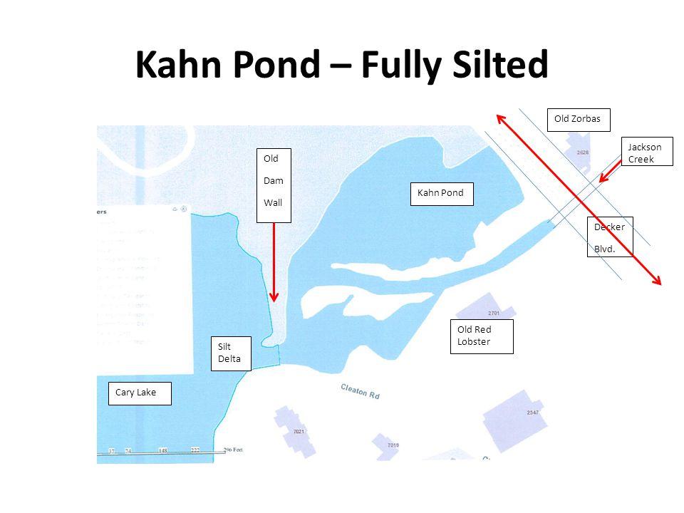 Kahn Pond – Fully Silted Kahn Pond Decker Blvd.