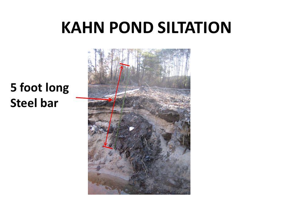 KAHN POND SILTATION 5 foot long Steel bar