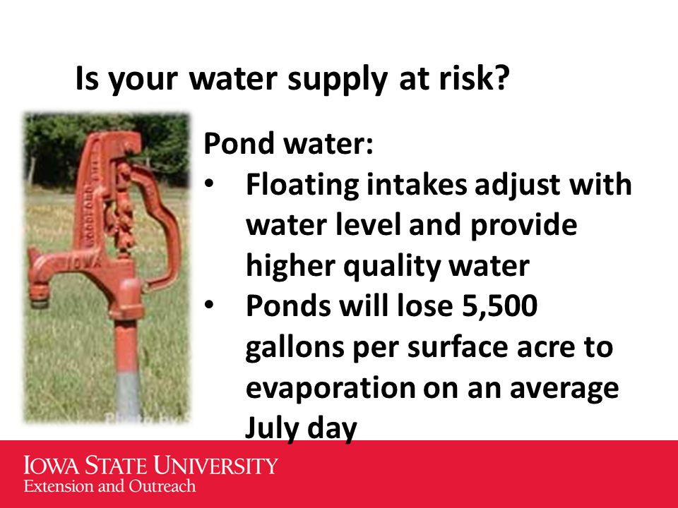 Is your water supply at risk.
