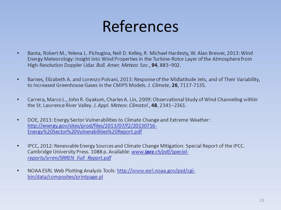 References Banta, Robert M., Yelena L. Pichugina, Neil D.