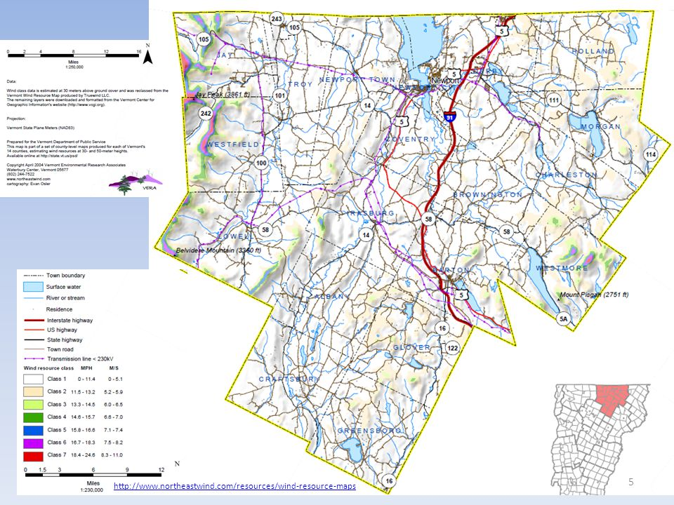 http://www.northeastwind.com/resources/wind-resource-maps 5