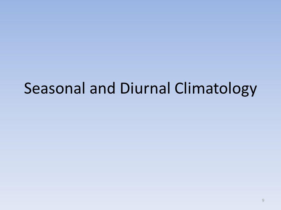 Seasonal and Diurnal Climatology 9
