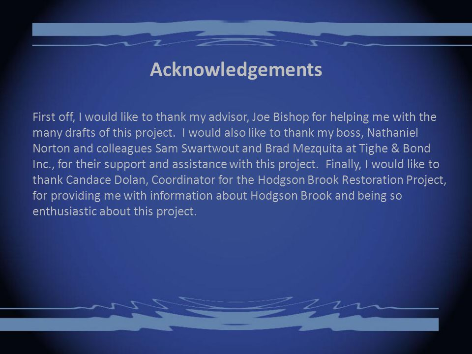 Acknowledgements First off, I would like to thank my advisor, Joe Bishop for helping me with the many drafts of this project.