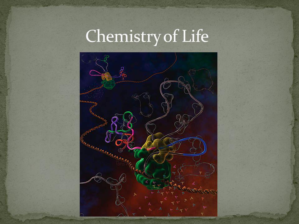 Carbon Hydrogen Oxygen Nitrogen } 96% of life