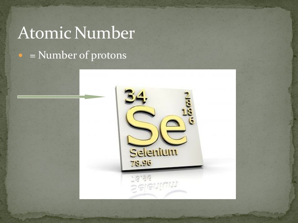 = Number of protons + Number of neutrons