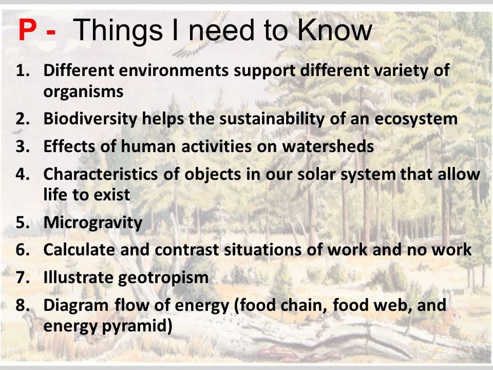 List 3 characteristics of Earth that allow for life to exist.