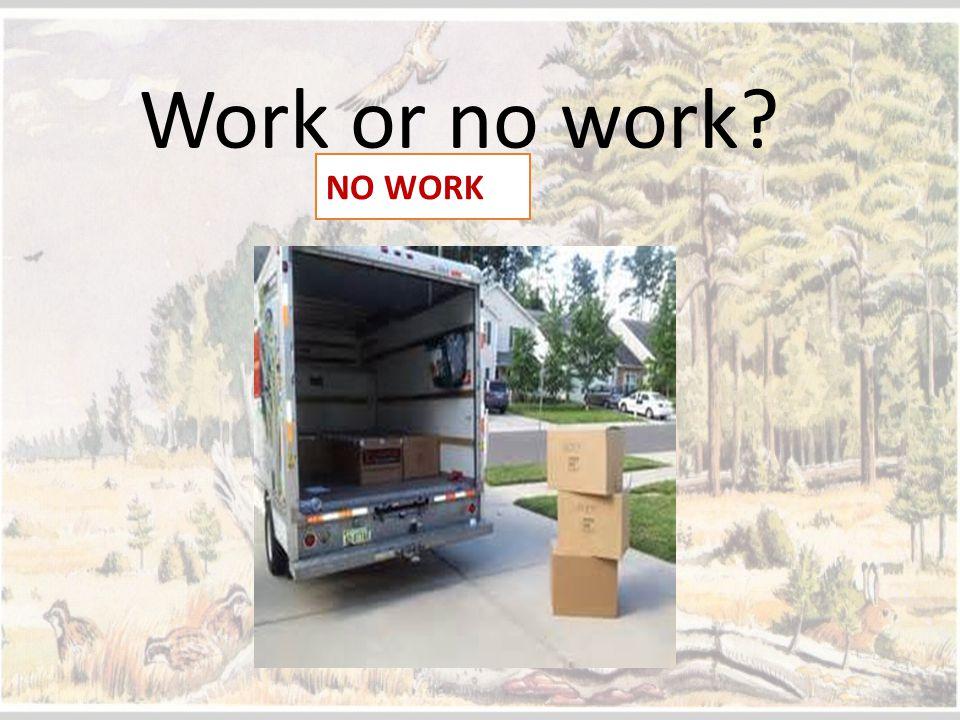 Work or no work? NO WORK