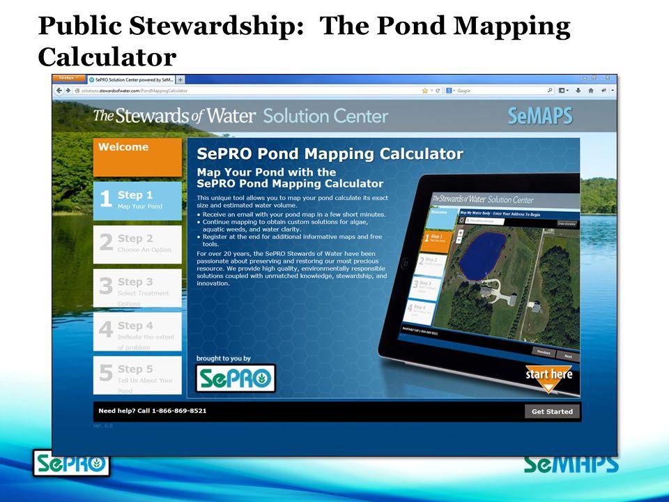 Public Stewardship: The Pond Mapping Calculator