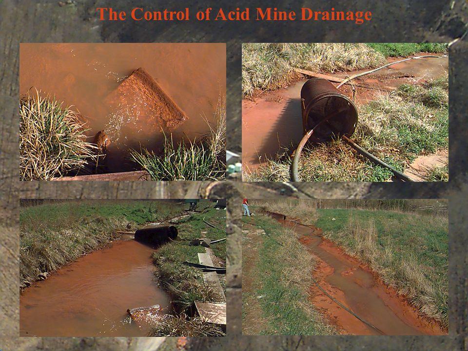 The Control of Acid Mine Drainage