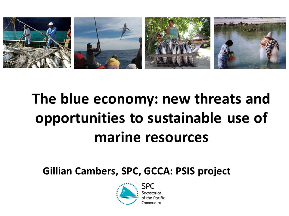 The blue economy: new threats and opportunities to sustainable use of marine resources Gillian Cambers, SPC, GCCA: PSIS project