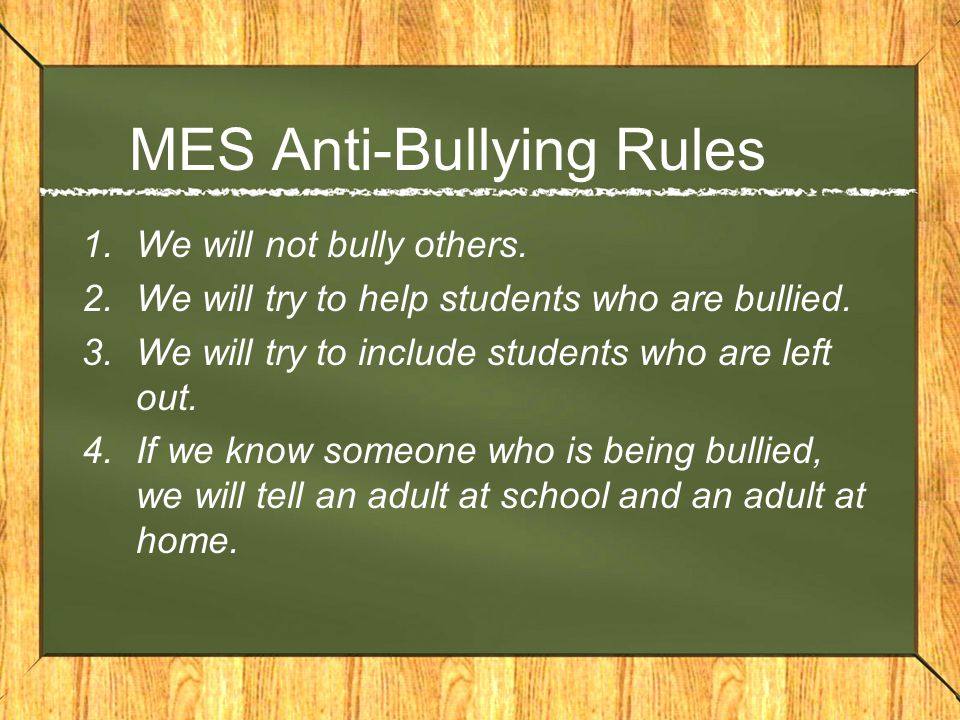 Anti-Bullying Program Getting Better At Getting Along Olweus Bully Prevention Program (OBPP) –Monthly Themes (i.e., respect, responsibility) –Anti-Bullying Rules –Class Meetings –Role Playing
