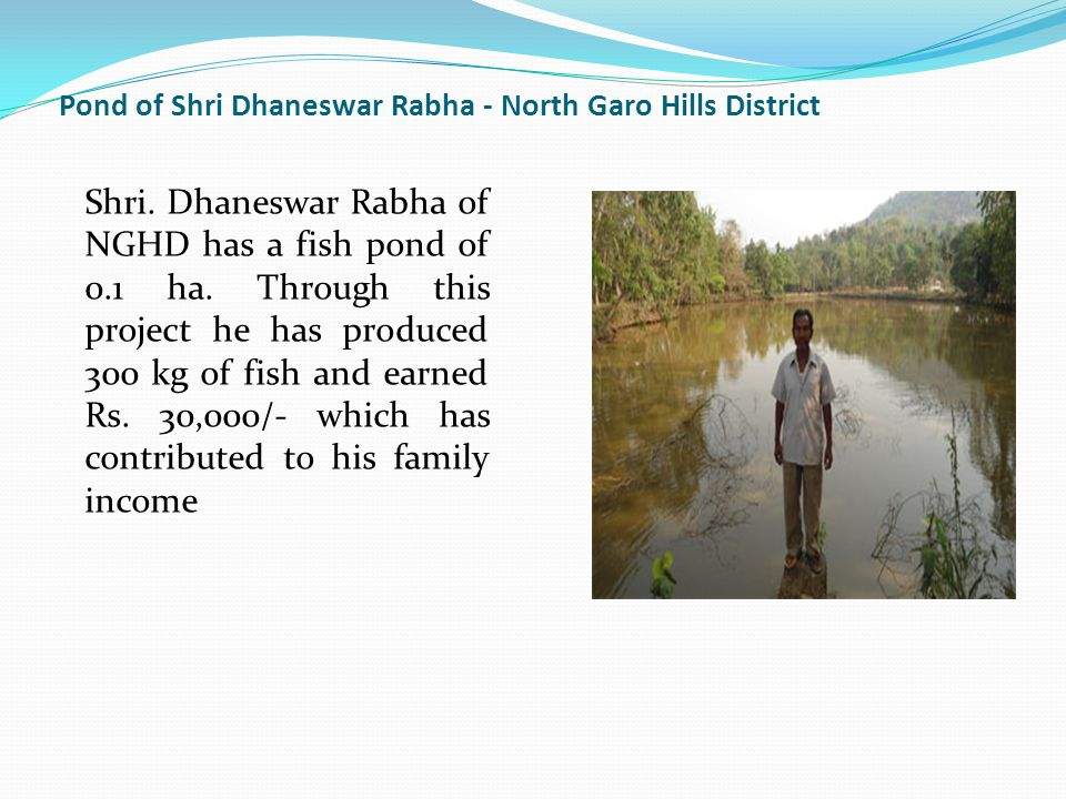Pond of Shri Dhaneswar Rabha - North Garo Hills District Shri.
