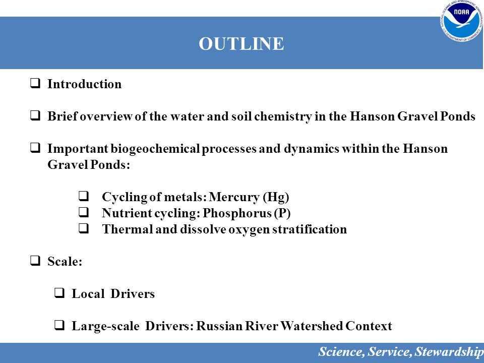 Current Water Quality Status in the Russian River  Historical and current land use practices greatly influence water and sediment quality and quantity in the Russian River Watershed.