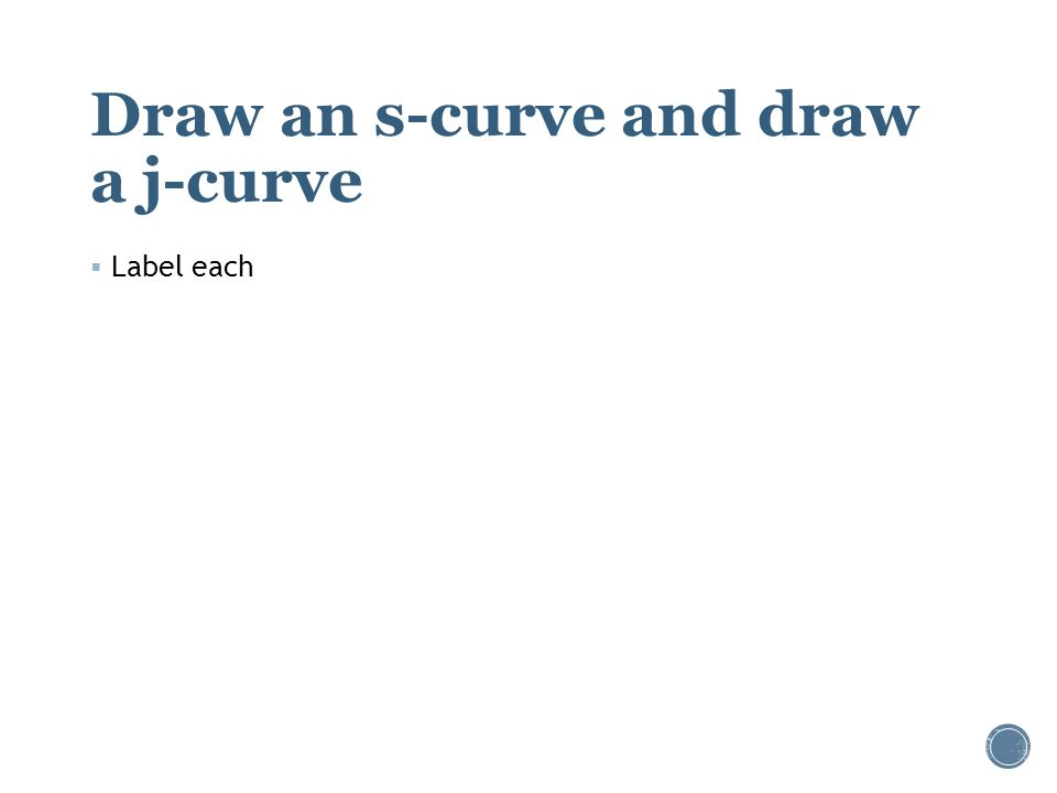 Draw an s-curve and draw a j-curve  Label each