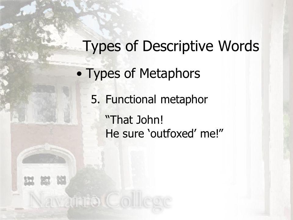 5.Functional metaphor That John.