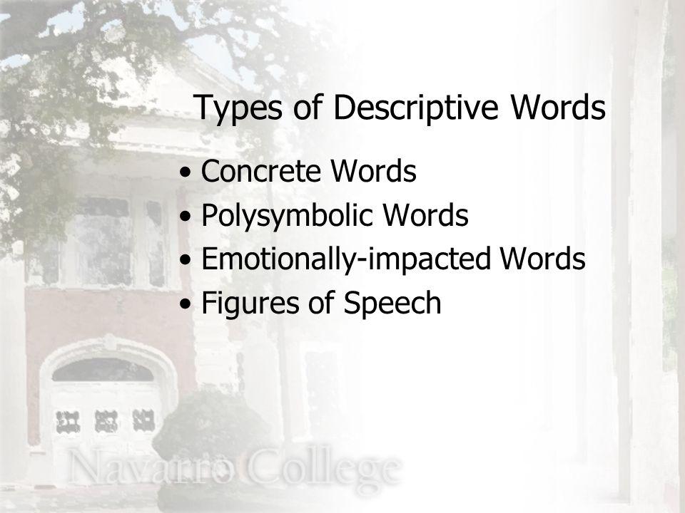 2.Collapsed metaphor John, the fox Types of Descriptive Words Types of Metaphors