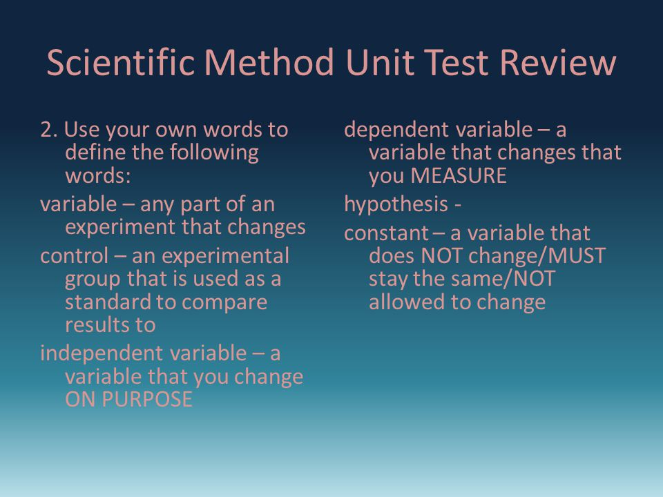 13. What is the name of a statement that can be tested? Hypothesis