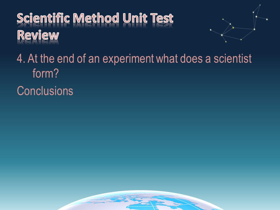5.Which part of the scientific method process is most likely to follow hypothesizing.