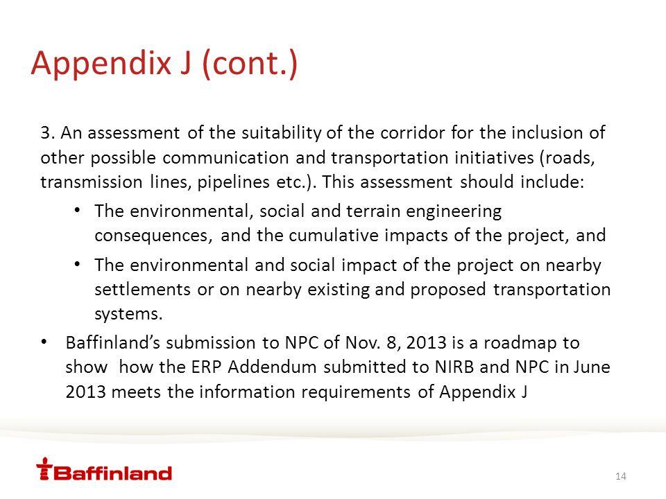 Appendix J (cont.) 3.