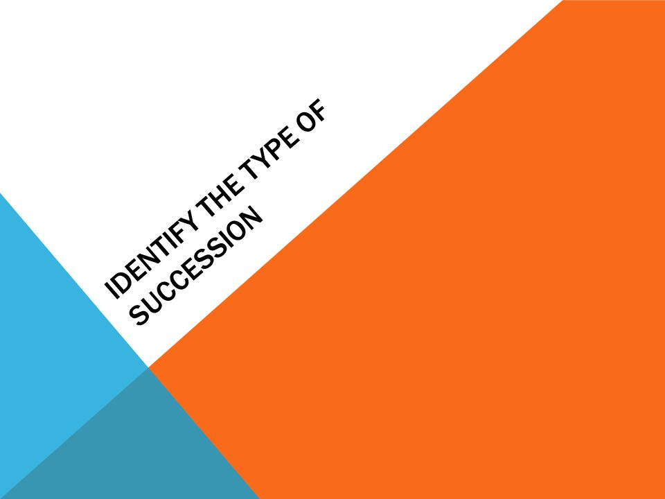 IDENTIFY THE TYPE OF SUCCESSION