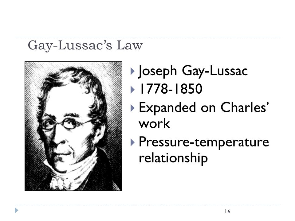 Gay-Lussac's Law 15  An oxygen cylinder has a pressure of 2200 psi at a temperature of 25 C, what will its pressure be if it is heated to 50 C? (Must
