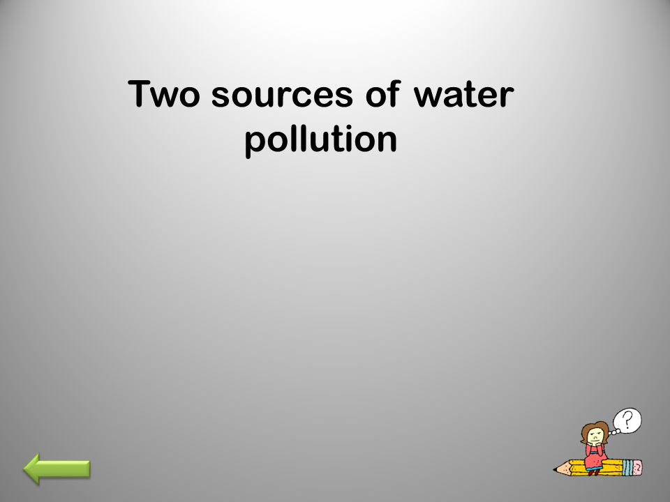 Two sources of water pollution