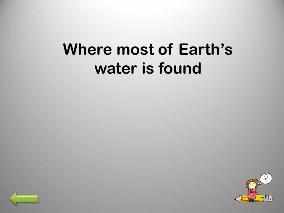 Where most of Earth's water is found