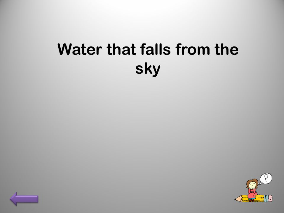 Water that falls from the sky