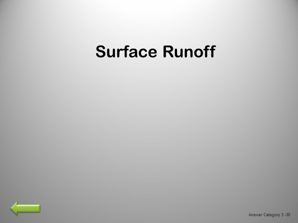 Surface Runoff Answer Category 3 -30