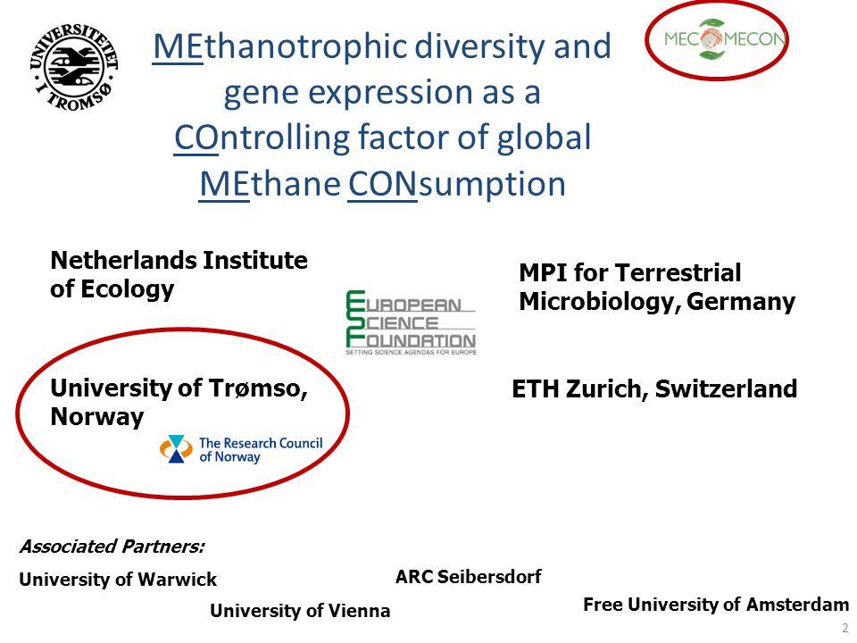 2 Netherlands Institute of Ecology MPI for Terrestrial Microbiology, Germany University of Trømso, Norway ETH Zurich, Switzerland University of Warwic
