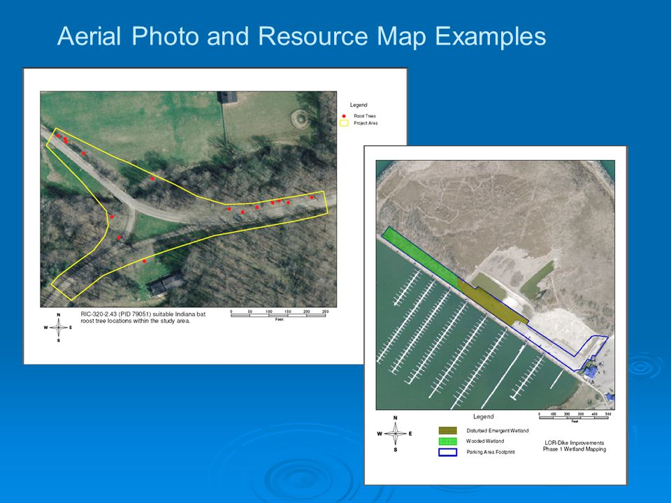 Aerial Photo and Resource Map Examples