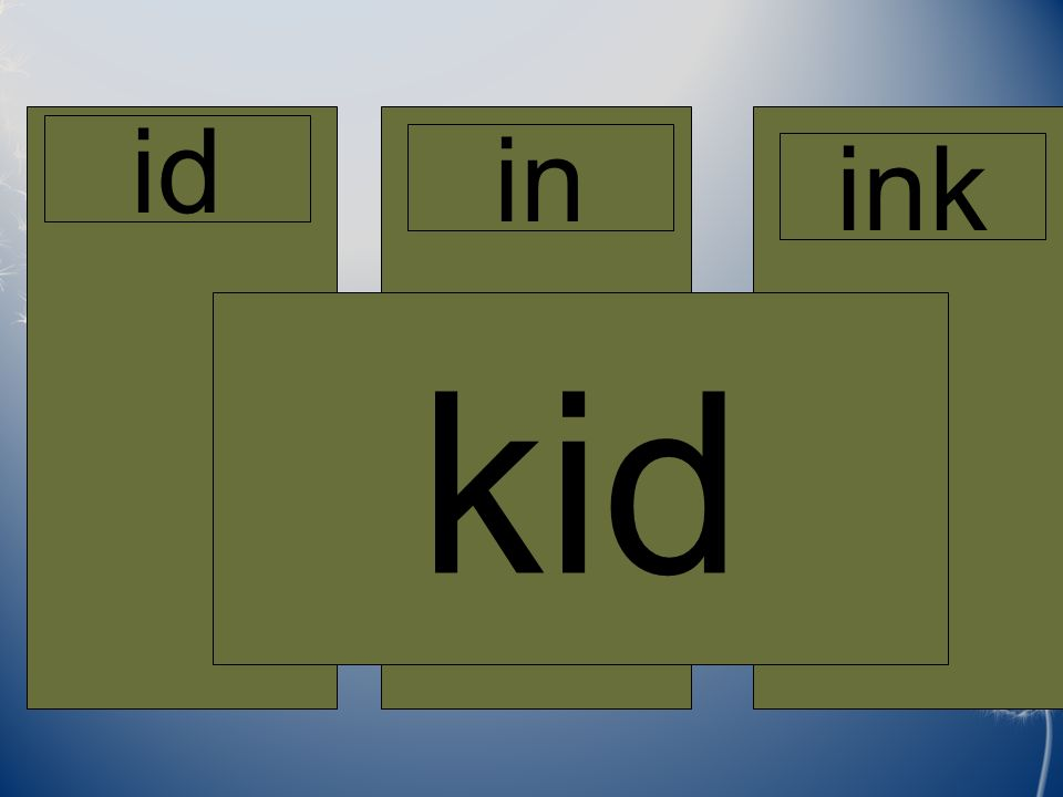 Home id in ink kid