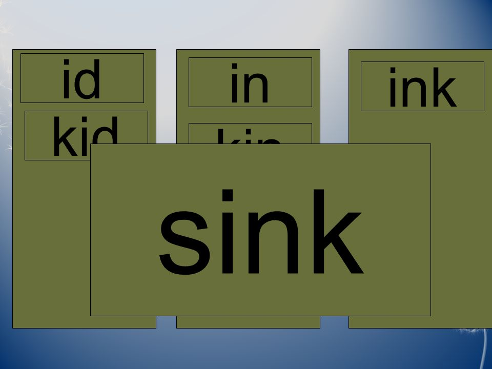 Home id in ink kid kin sink