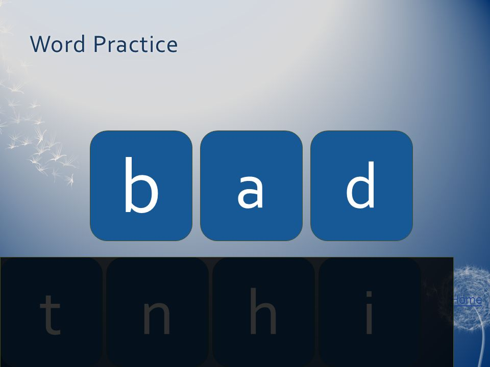 Home Word PracticeWord Practice b ad tnhi