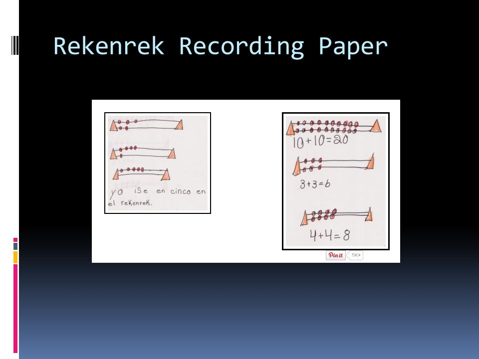 Rekenrek Recording Paper