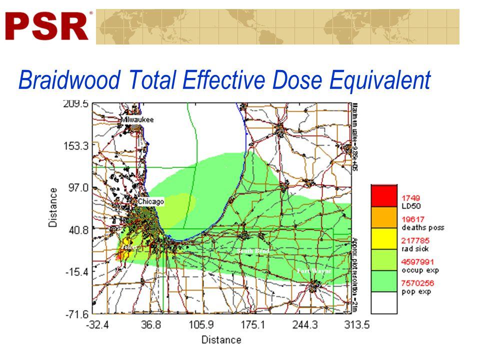 Braidwood Total Effective Dose Equivalent South Bend Fort Wayne Joliet